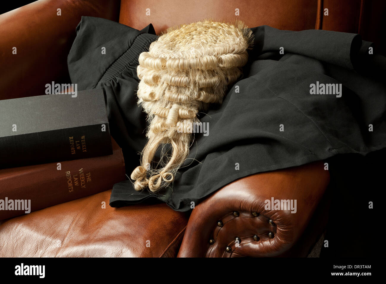 A Barrister s Wig and Gown Stock Photo  65853164 - Alamy bf58bc32eeb1