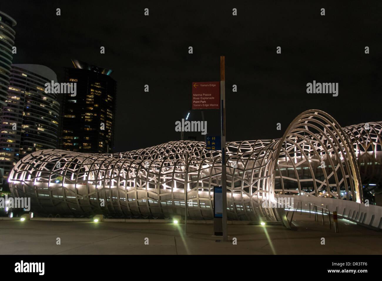 Webb Bridge, Melbourne, Australia - Stock Image