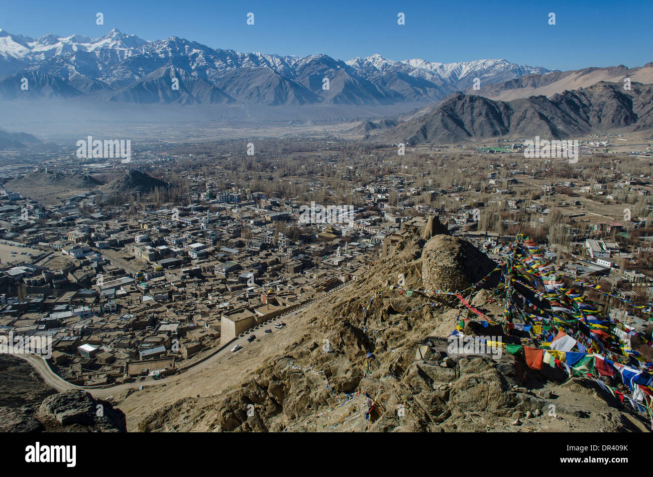 Townscape of Leh, India - Stock Image