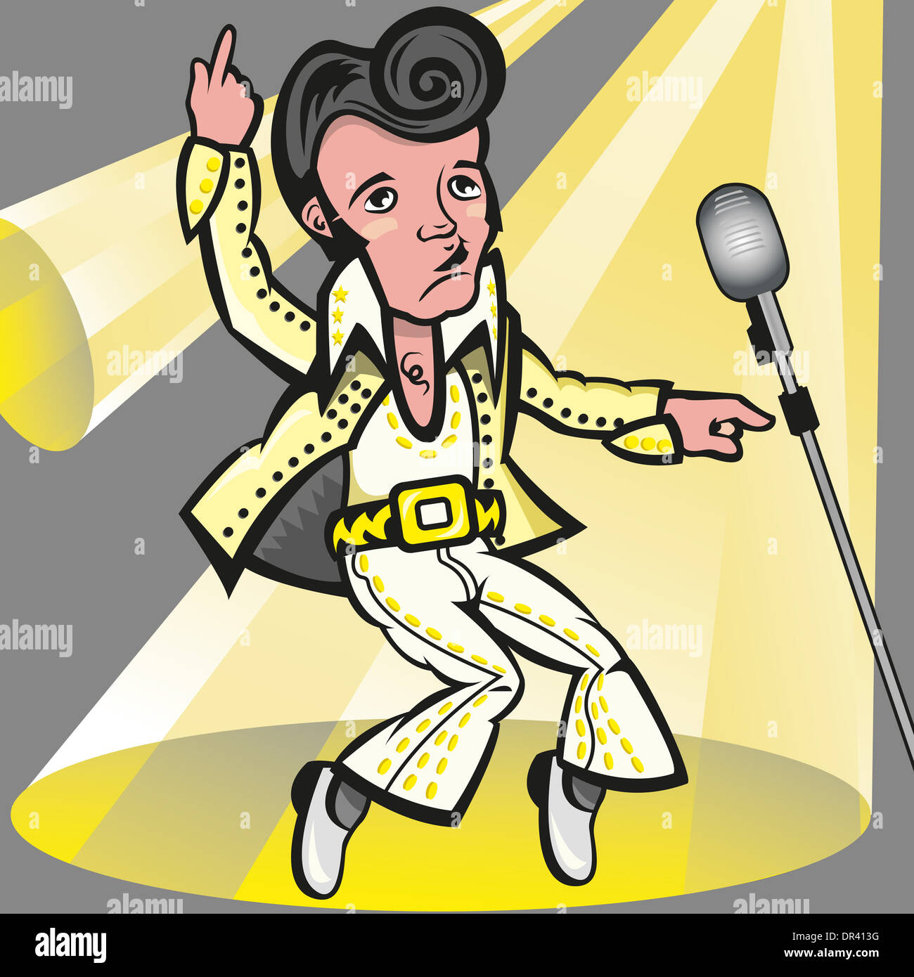 Illustration Elvis Presley Stock Photos & Illustration Elvis Presley ...
