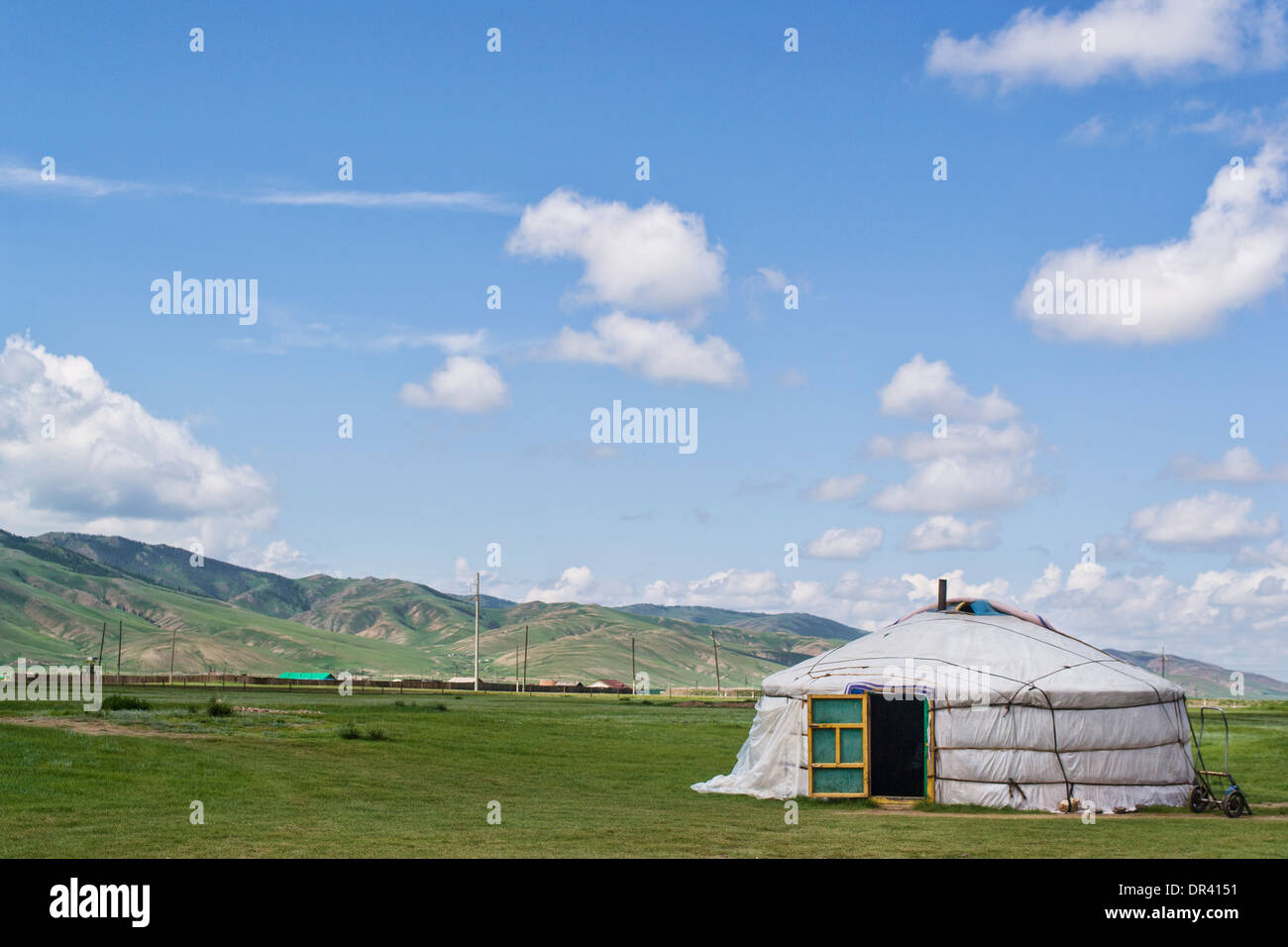 Ger in Mongolia - Stock Image