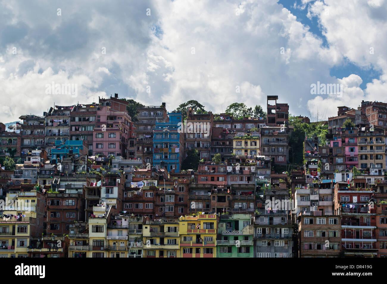 Houses in Kathmandu - Stock Image