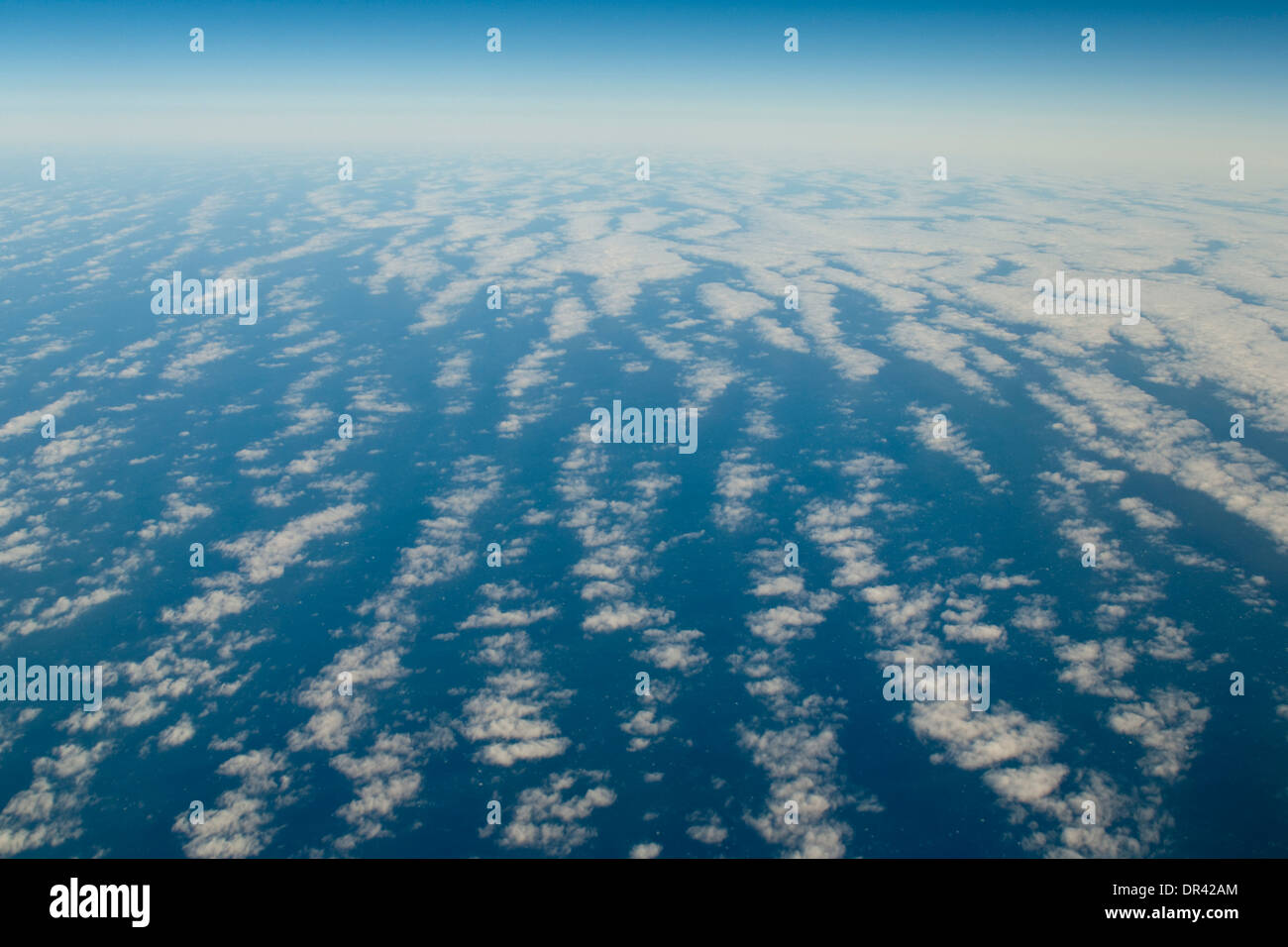 Stratus clouds over the Pacific Ocean Stock Photo