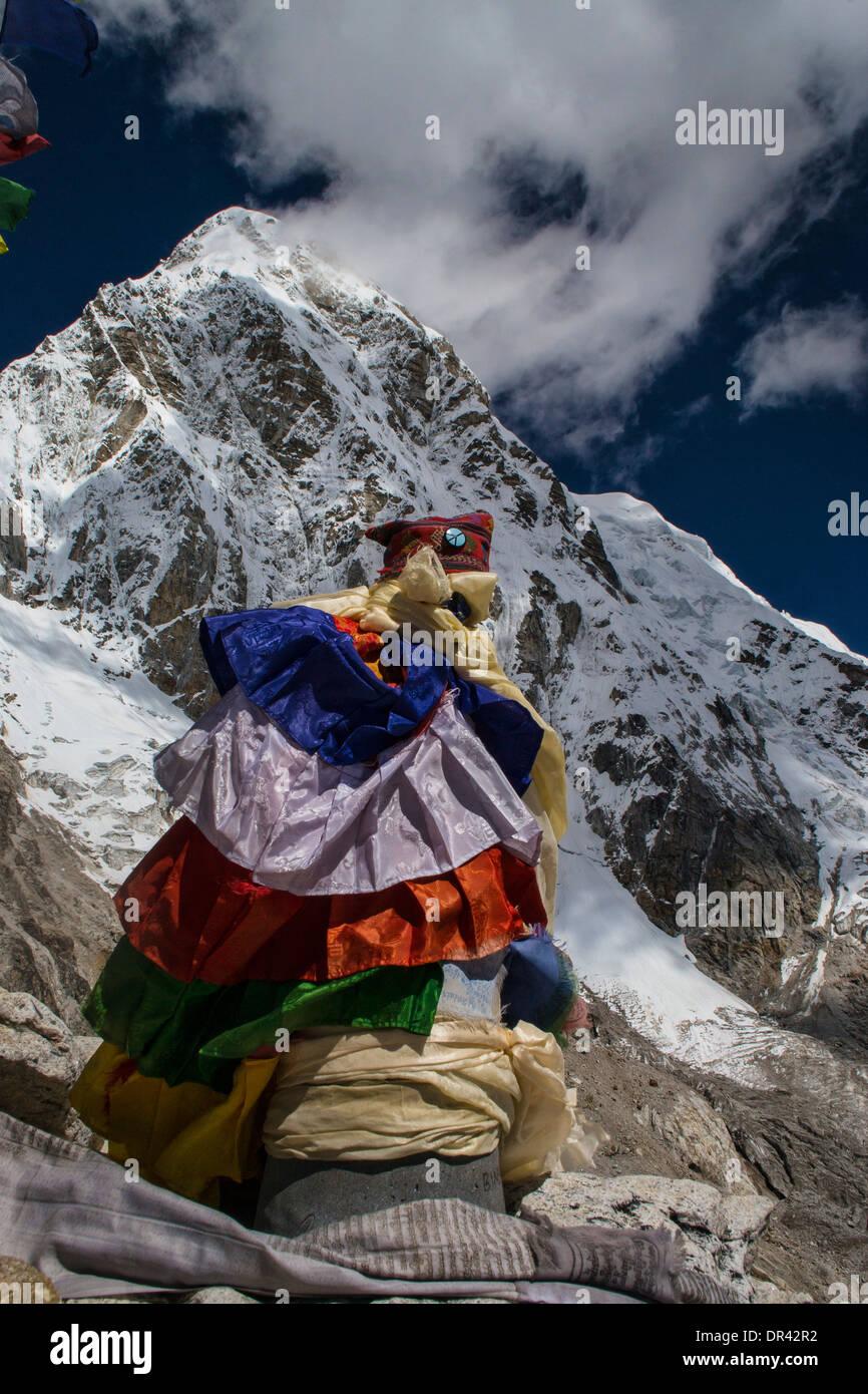 Kala Patthar in Himalayas - Stock Image