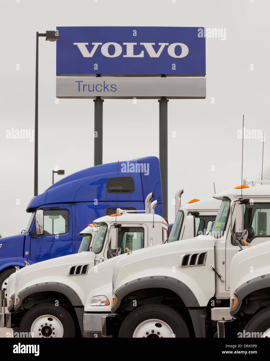volvo truck sales lot - california usa stock photo: 65858968 - alamy