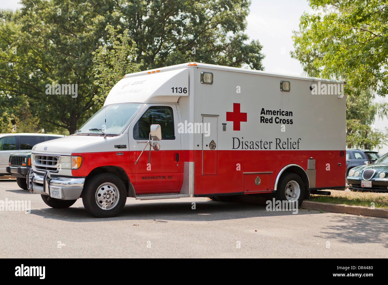 American Red Cross Disaster Relief truck - Washington, DC USA - Stock Image
