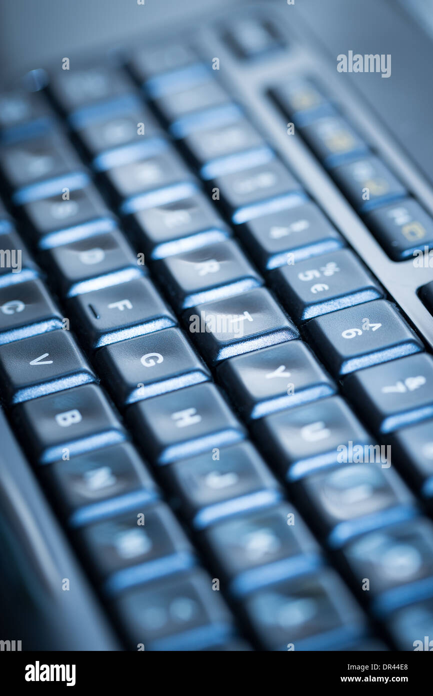 Computer keyboard background. Selective focus. High resolution. - Stock Image
