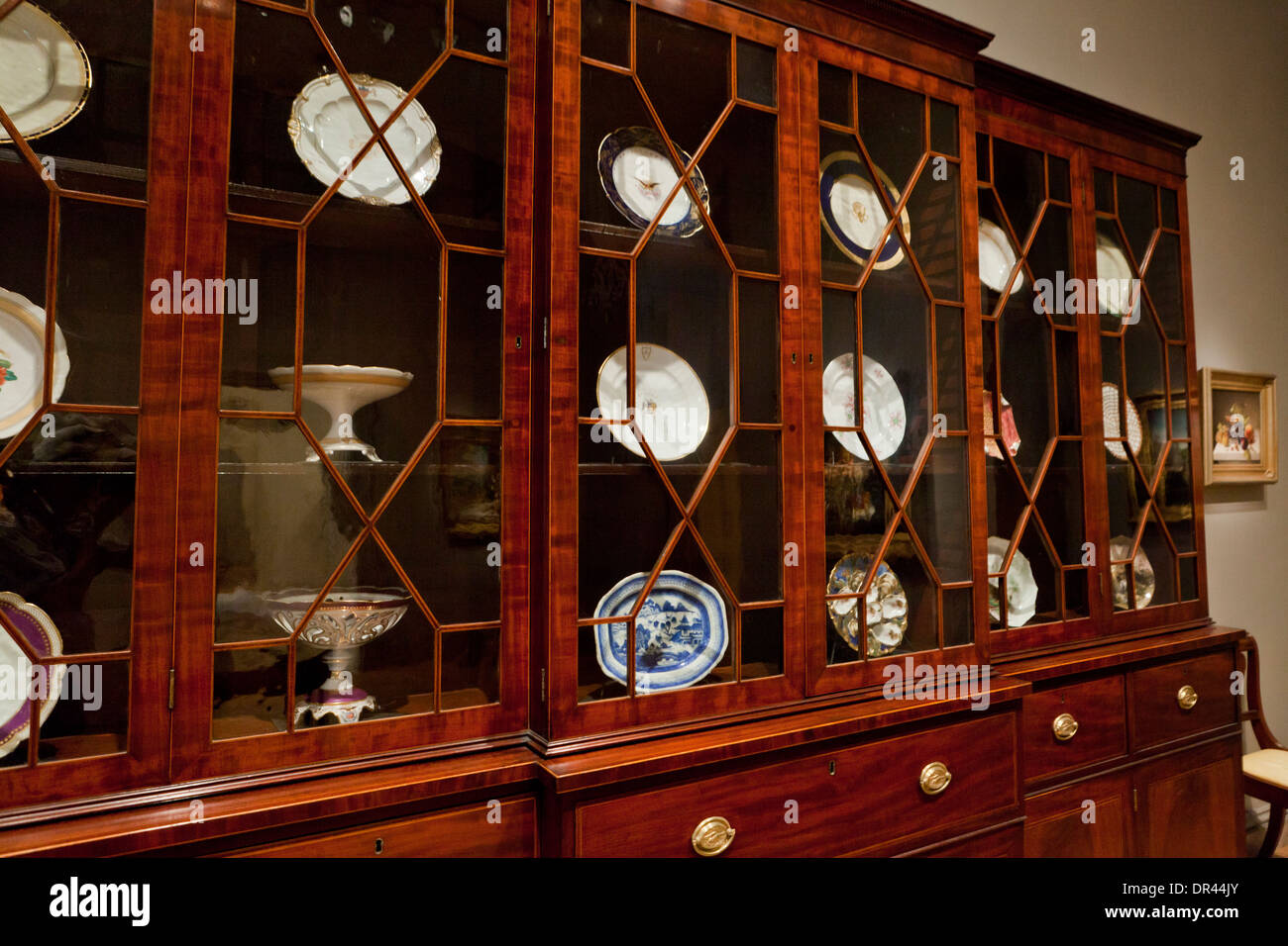 Antique cherry wood china cabinet - Antique Cherry Wood China Cabinet Stock Photo: 65859667 - Alamy