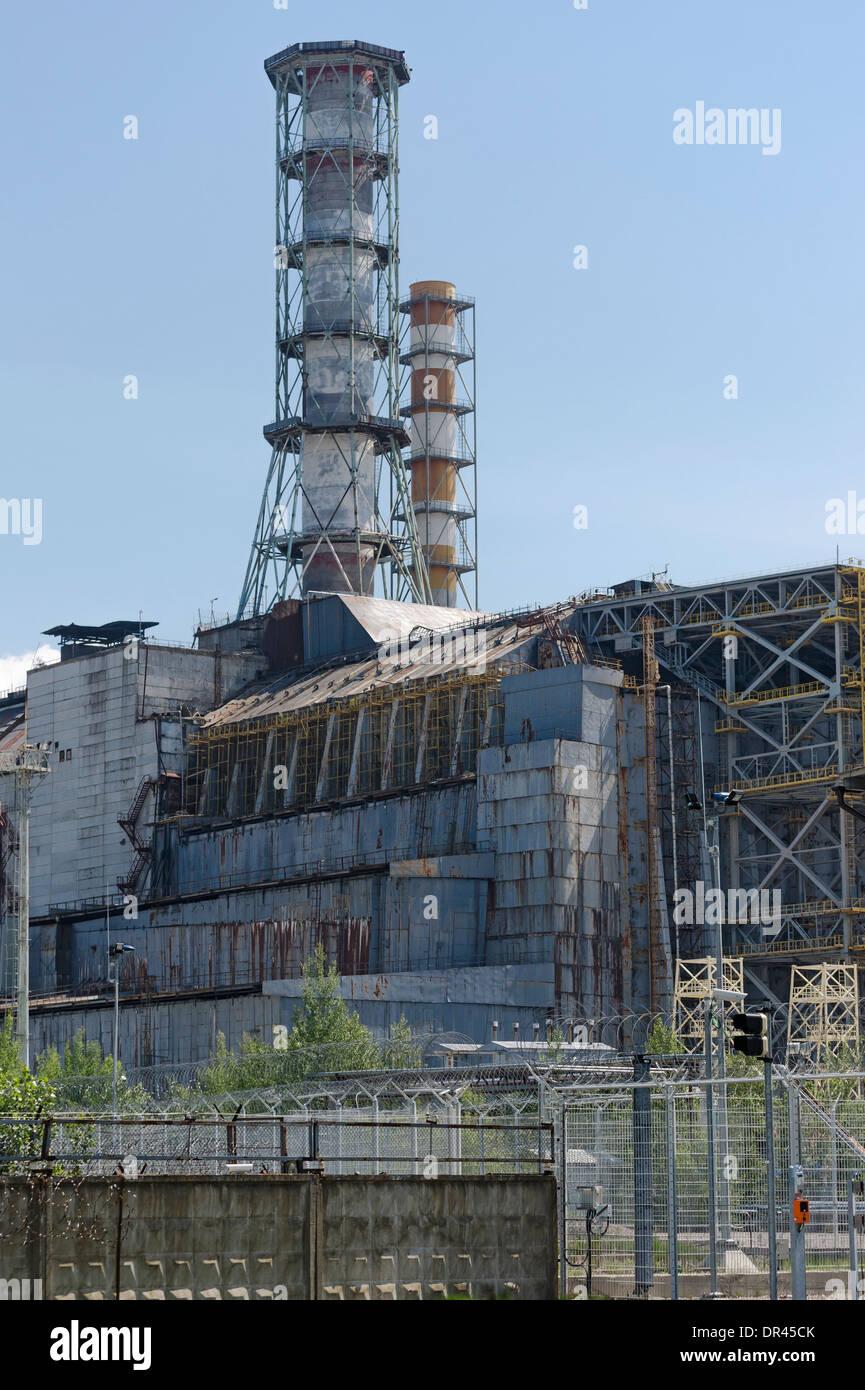 Chernobyl Nuclear Power Plant, Ukraine - Stock Image