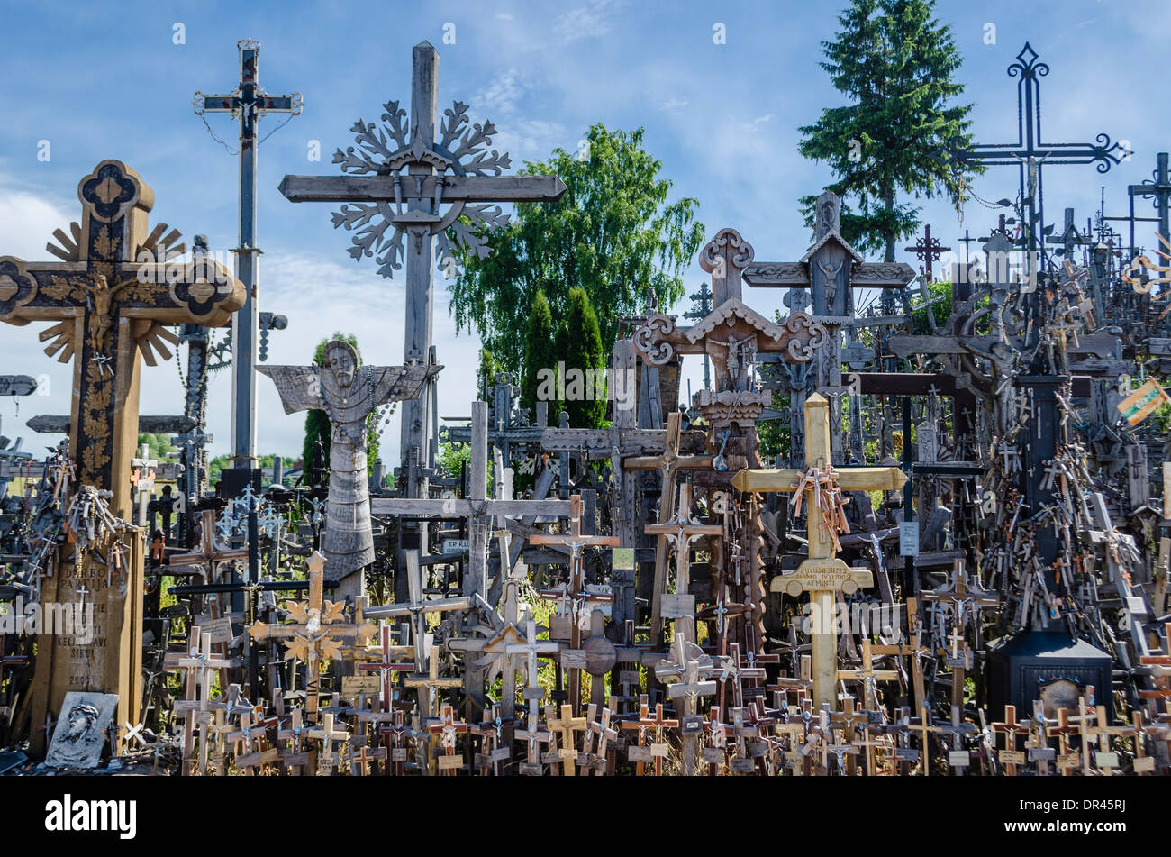 Hill of Crosses, Lithuania - Stock Image