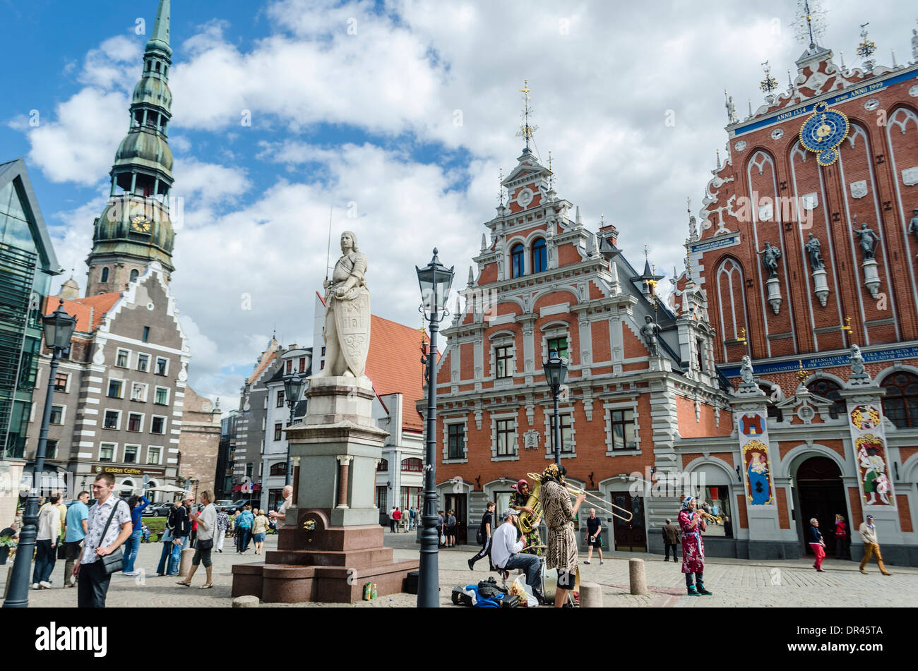 Town Hall Square, Riga, Latvia - Stock Image
