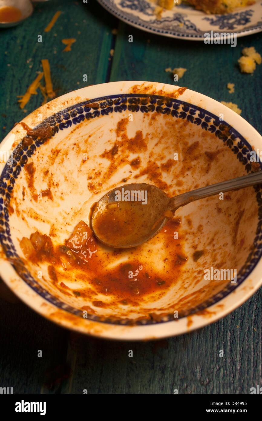 Bowl of chili - Stock Image