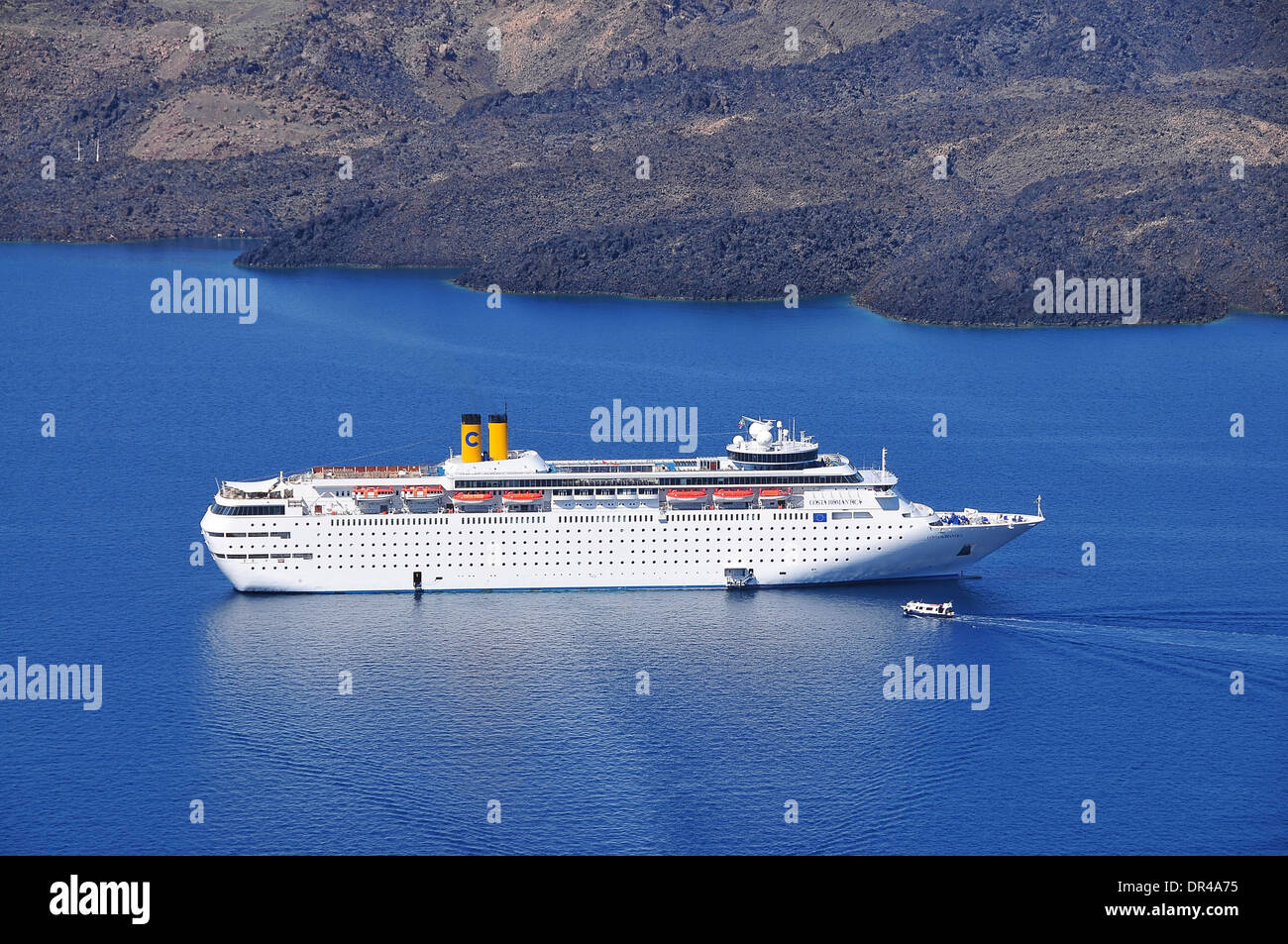 Passenger Vessel in Meditteranian Sea - Stock Image
