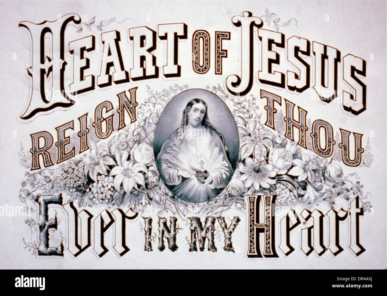 Heart of Jesus - Reign Thou Ever in my Heart - Stock Image
