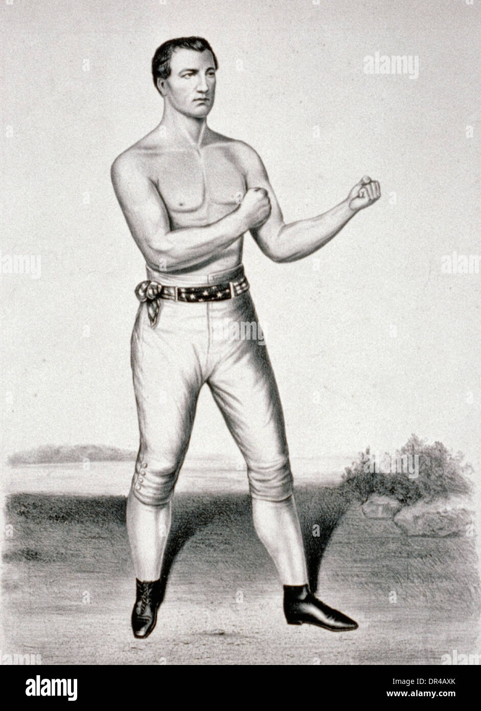 John C. Heenan, the champion of America: (the Benicia boy), 1860. John Heenan was an American bare-knuckle prize - Stock Image