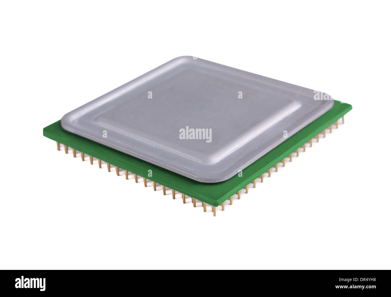 Processor on a white background - Stock Image