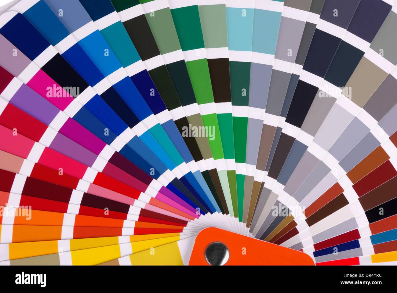 Color chart close-up - Stock Image