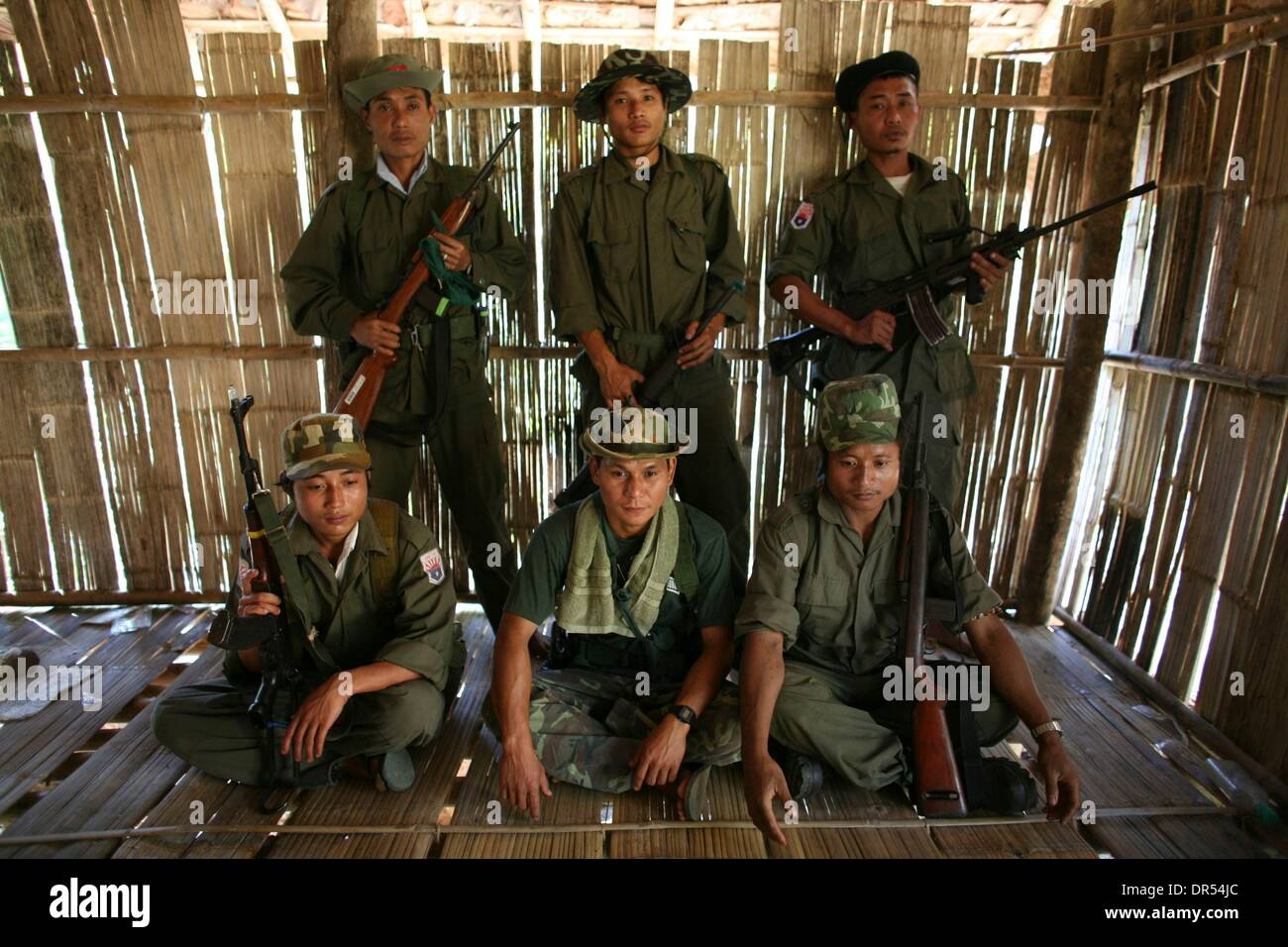 Karen National Union KNU rebels rebel Birma Stock Photo