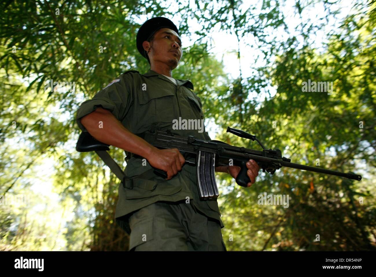 Karen National Union KNU rebels rebel Birma - Stock Image