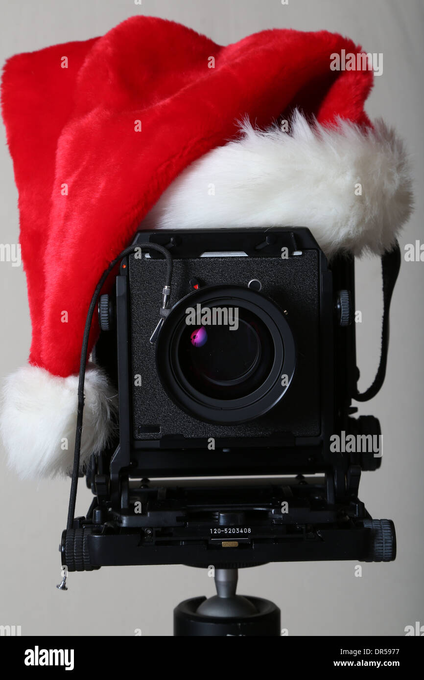 Christmas camera large format - Stock Image