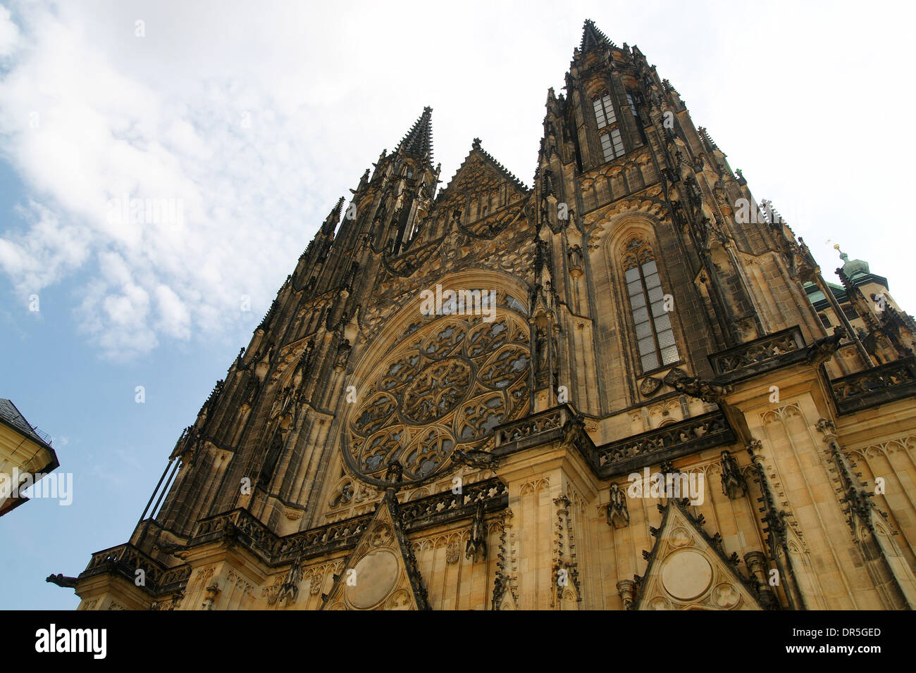 Czech Republic. Prague. St. Vitus Cathedral. West facade. Neo-Gothic style. - Stock Image