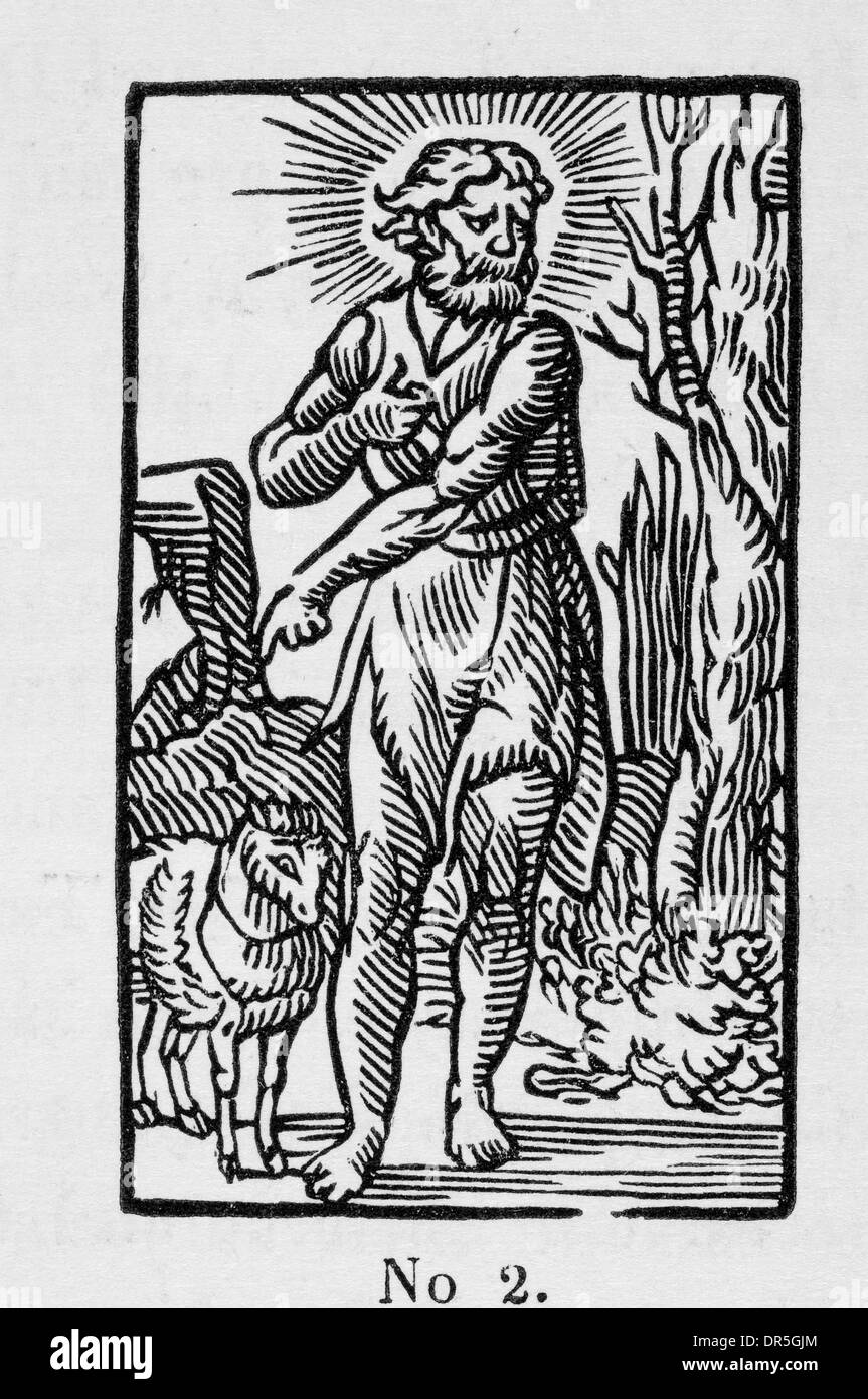 John the Baptist, from Coverdale's Translation of the Old and New Testaments 1535 - Stock Image