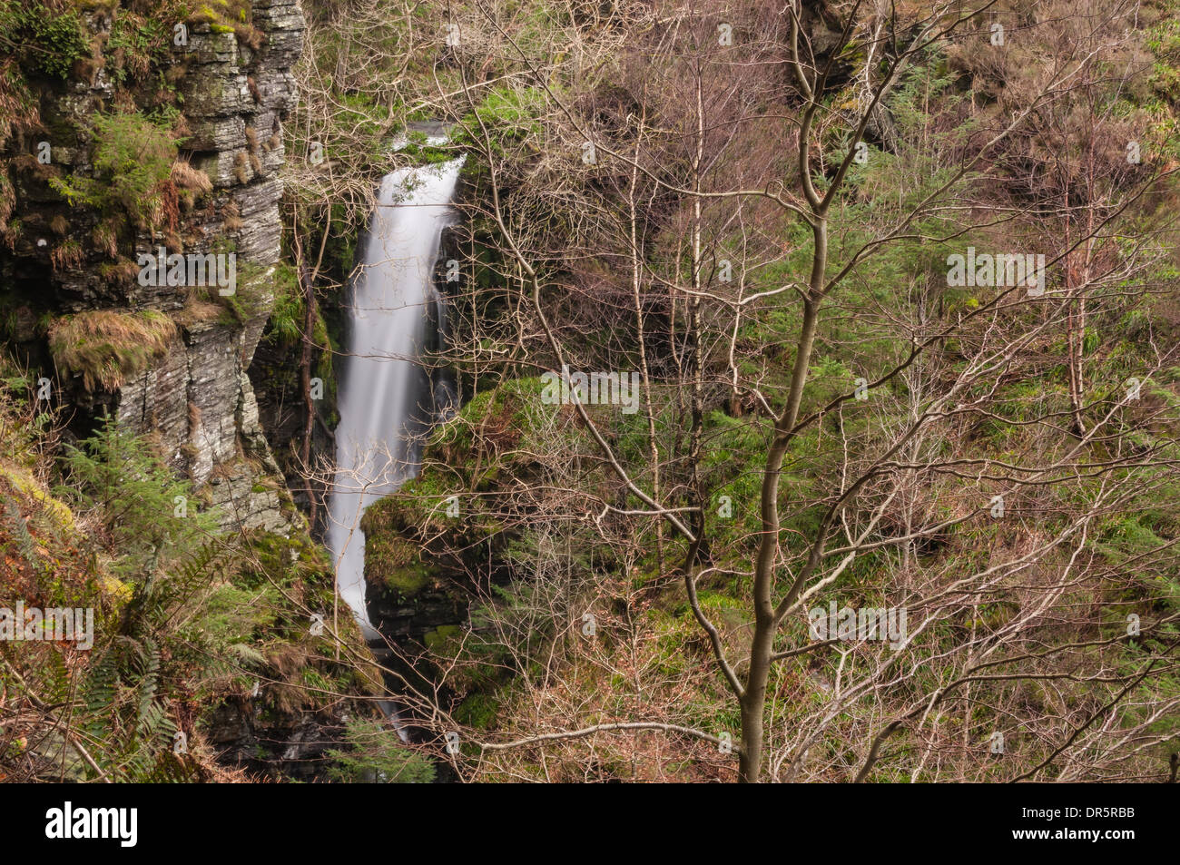 Spout Force waterfall in the English Lake District - Stock Image