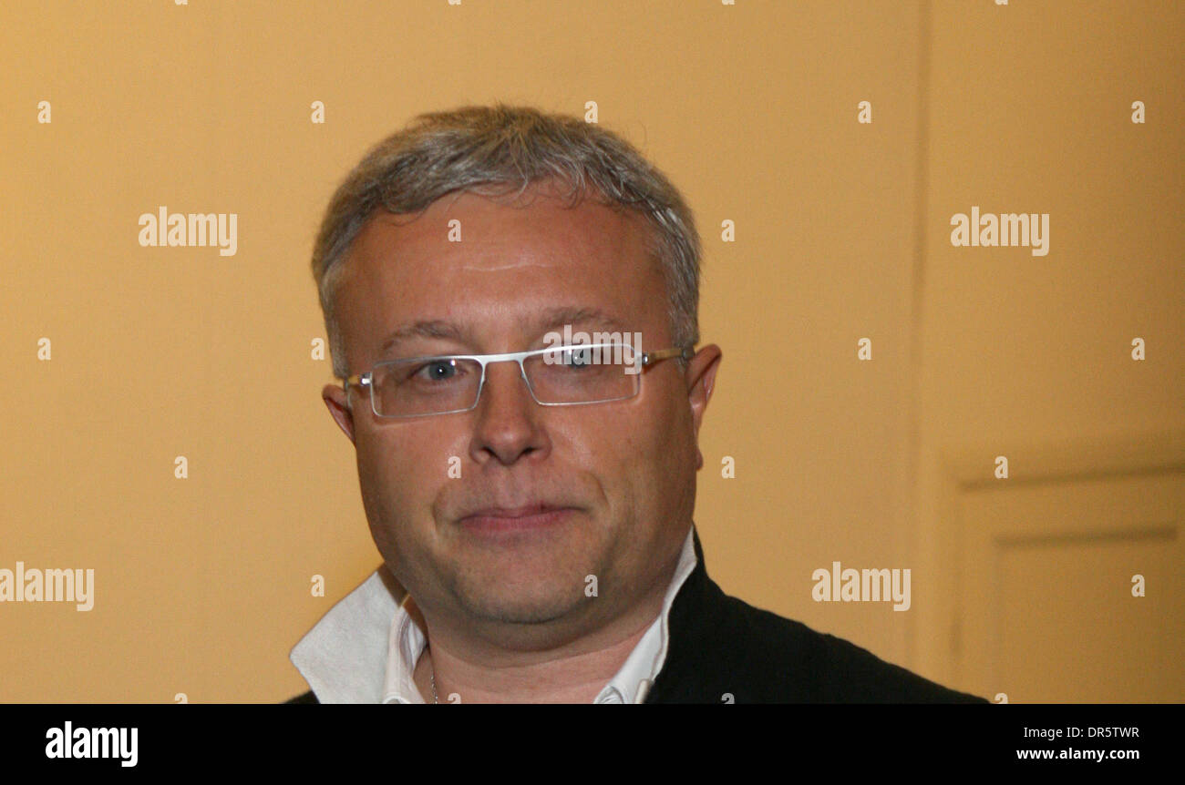 Jan 17, 2009 - Moscow, Russia - Russian billionaire businessman (ex-KGB agent) Alexander Lebedev could soon be in control of London`s The Evening Standard daily newspaper.  Lebedev is believed to be negotiating to buy a 76% share of the paper.  PICTURED: Mar 24, 2008 - Moscow, Russai - ALEXANDER LEBEDEV attends a fashion show. (Credit Image: © PhotoXpress/ZUMA Press) RESTRICTIONS:  - Stock Image