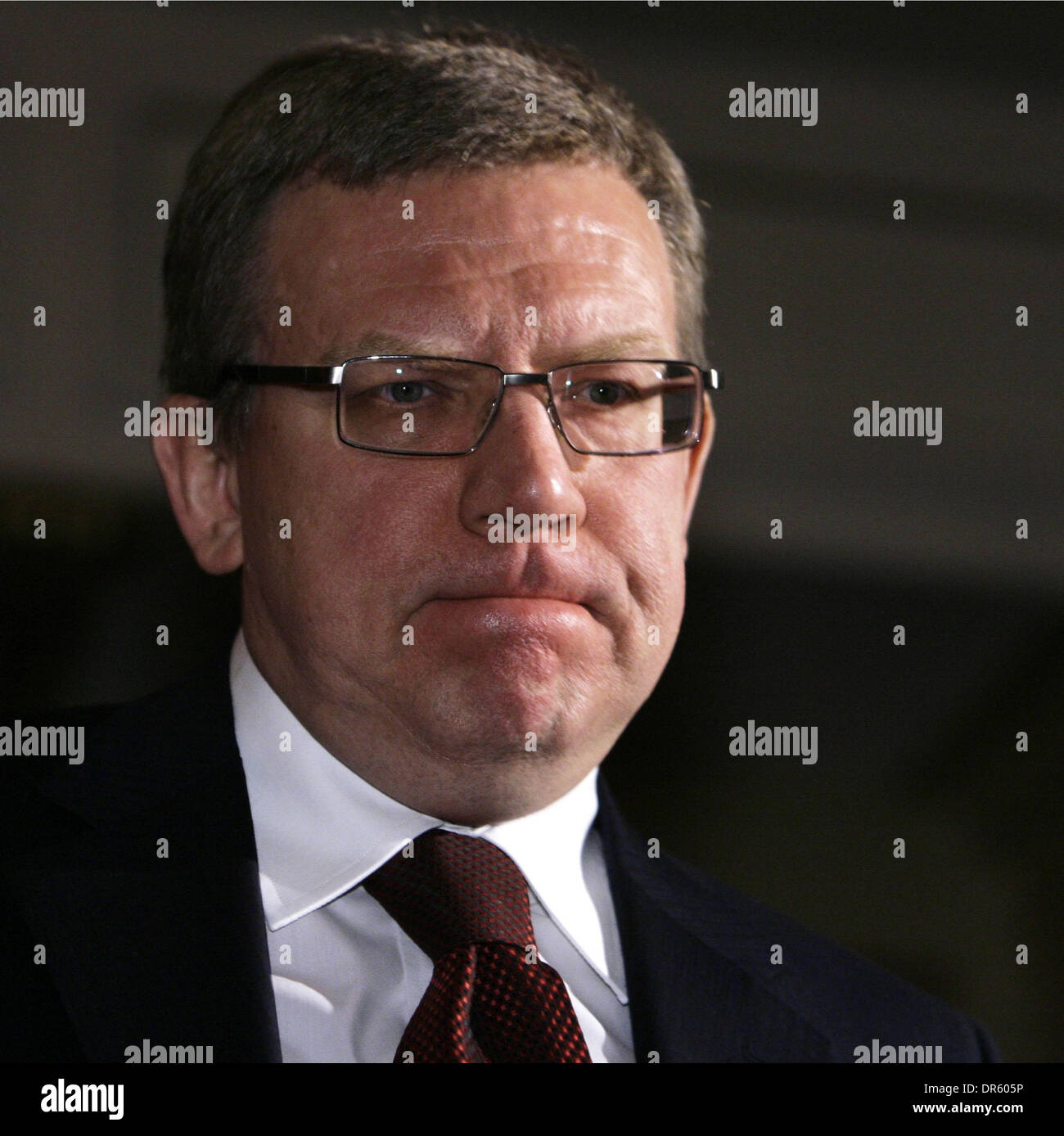 Global Investment and Finance Forum in Moscow bringing together Russian & international corporates; investment bankers; investors & other leading representatives from the world of finance . Pictured: russian Finance Minister Alexey Kudrin - Stock Image