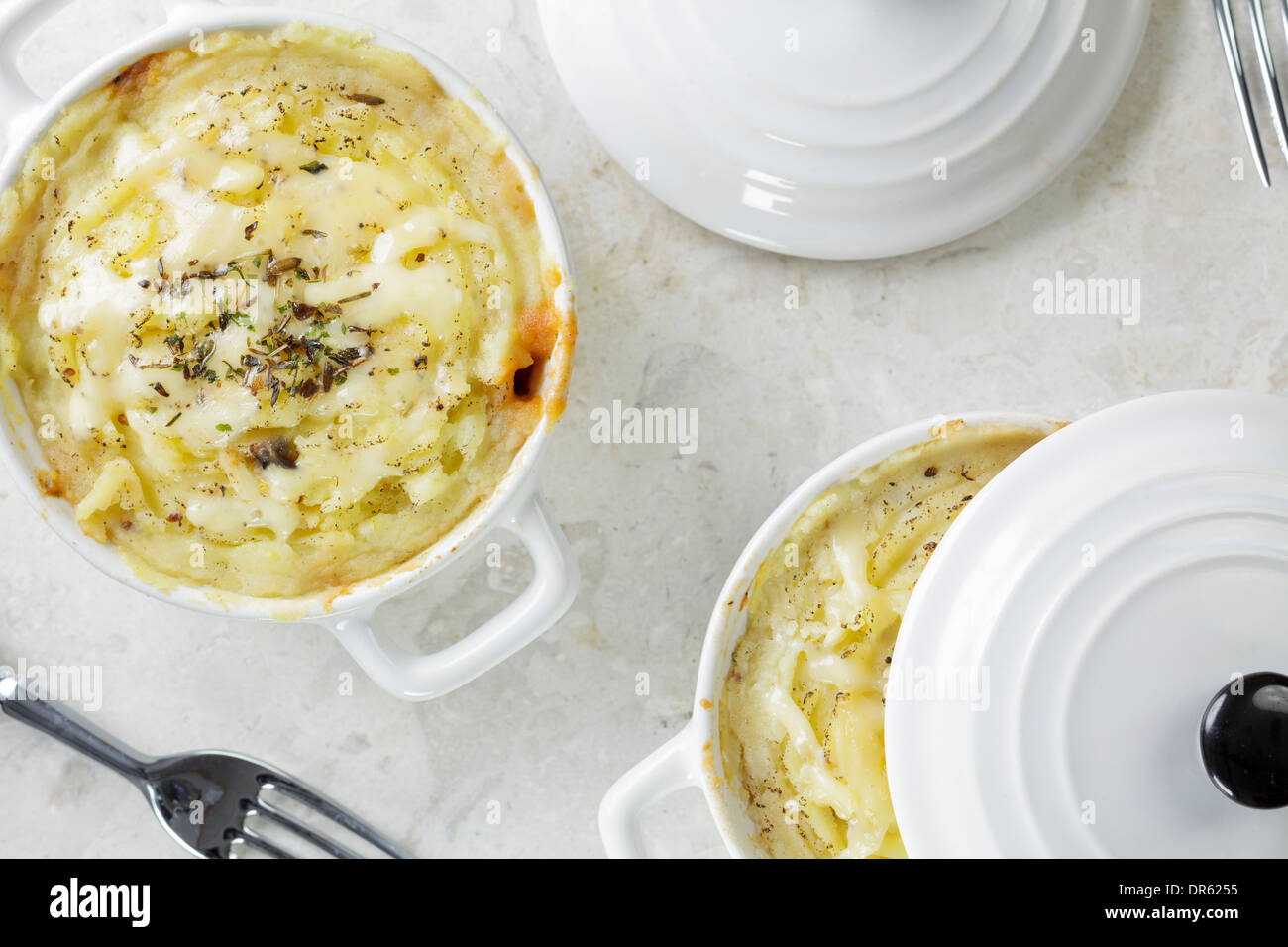 Little shepherds pies - Stock Image