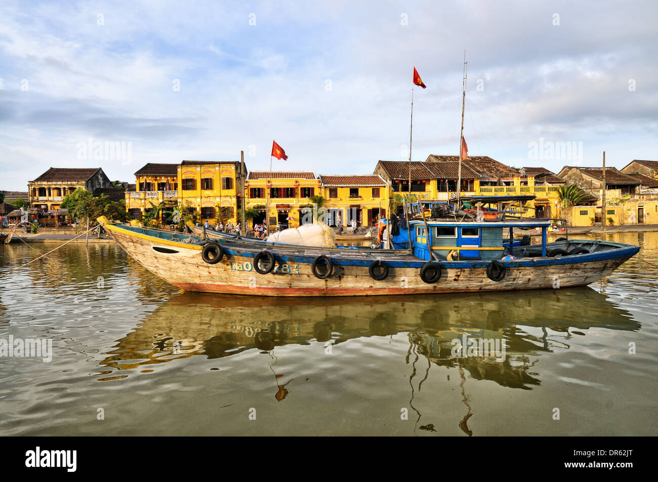 Thu Bon River, Hoi An - Stock Image