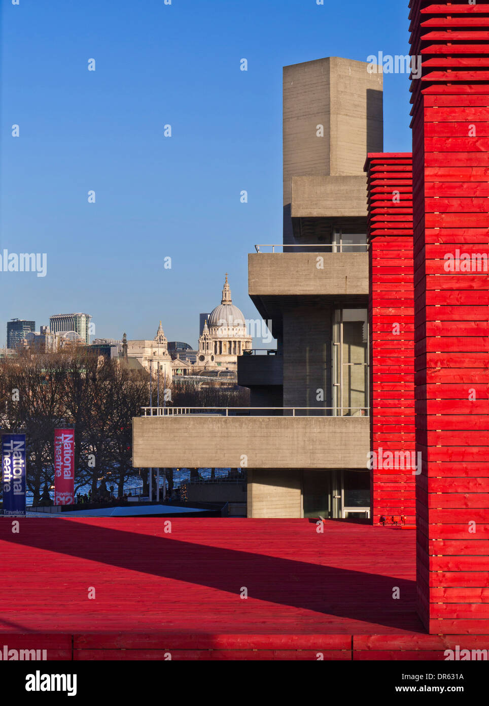 National Theatre entrance structure framing Saint Paul\'s cathedral ...