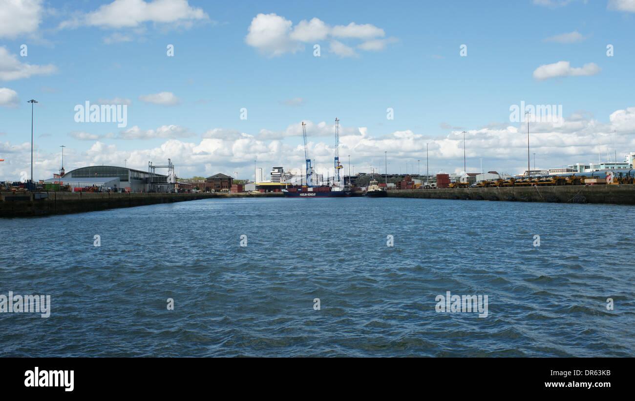 View of Ocean Dock Southampton 2012 - Stock Image
