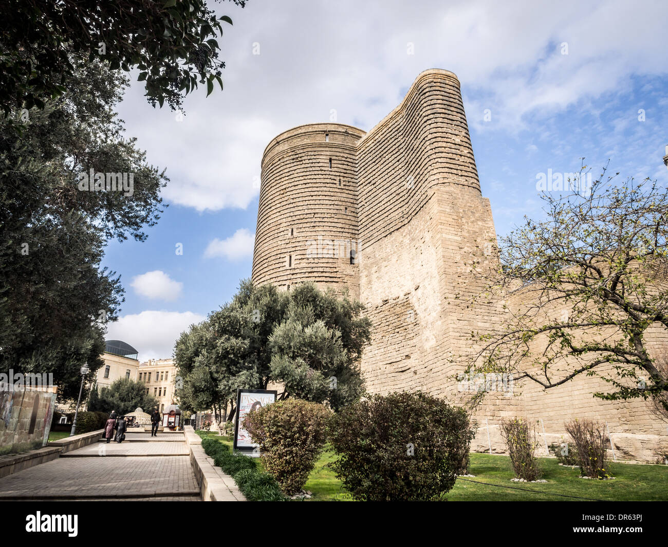 Maiden Tower in the old town of Baku, Azerbaijan. - Stock Image