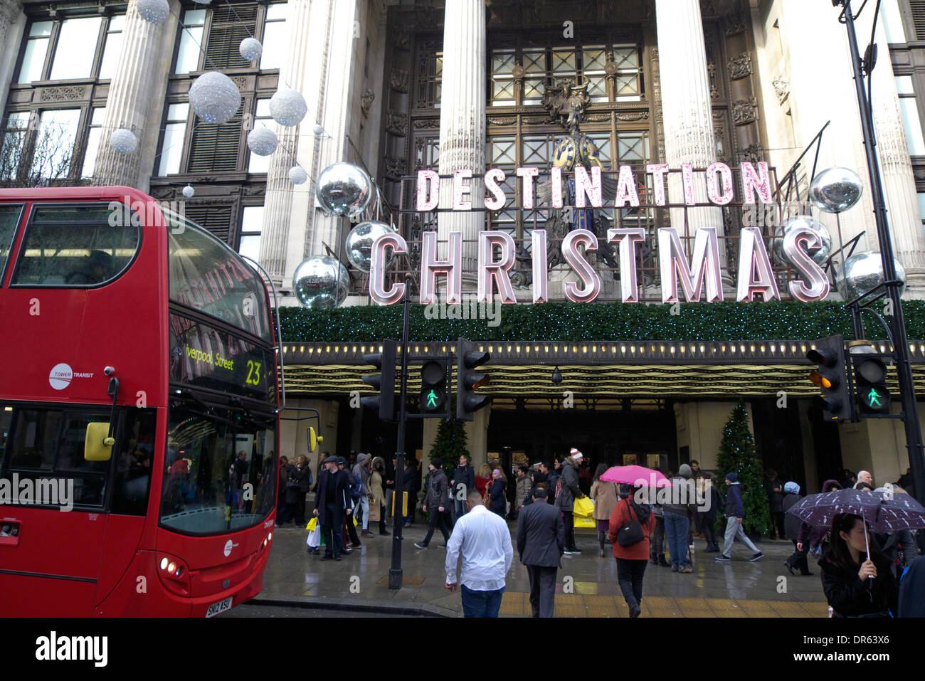 united kingdom central london w1 oxford street selfridges - Stock Image