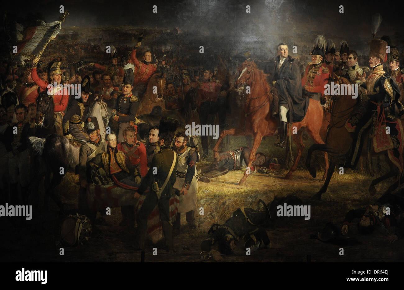 Jan Willem Pieneman (1779-1853). Dutch painter. The Battle of Waterloo, 1824. Rijksmuseum. Amsterdam. Netherlands. Stock Photo