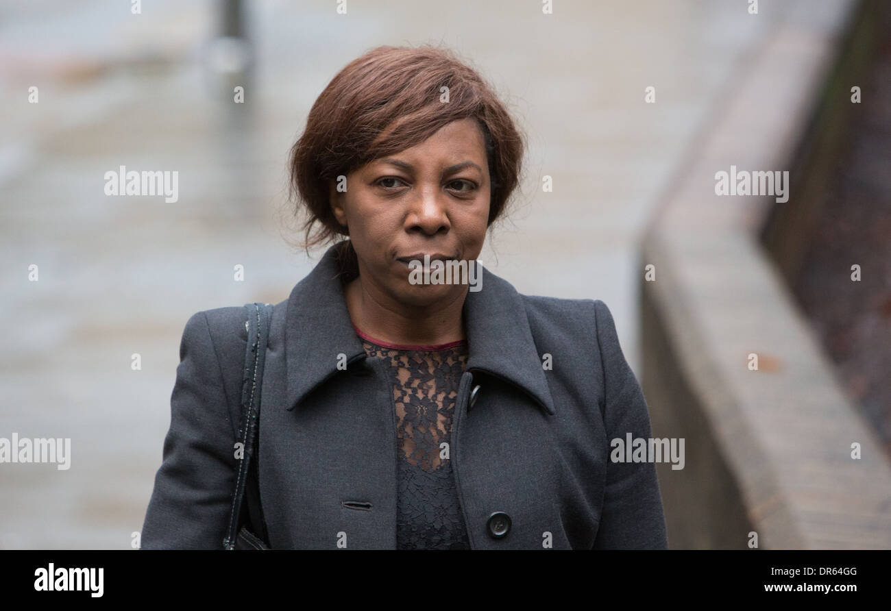 Constance Briscoe,Barrister and Part-time judge arrives at Southwark Crown Court - Stock Image