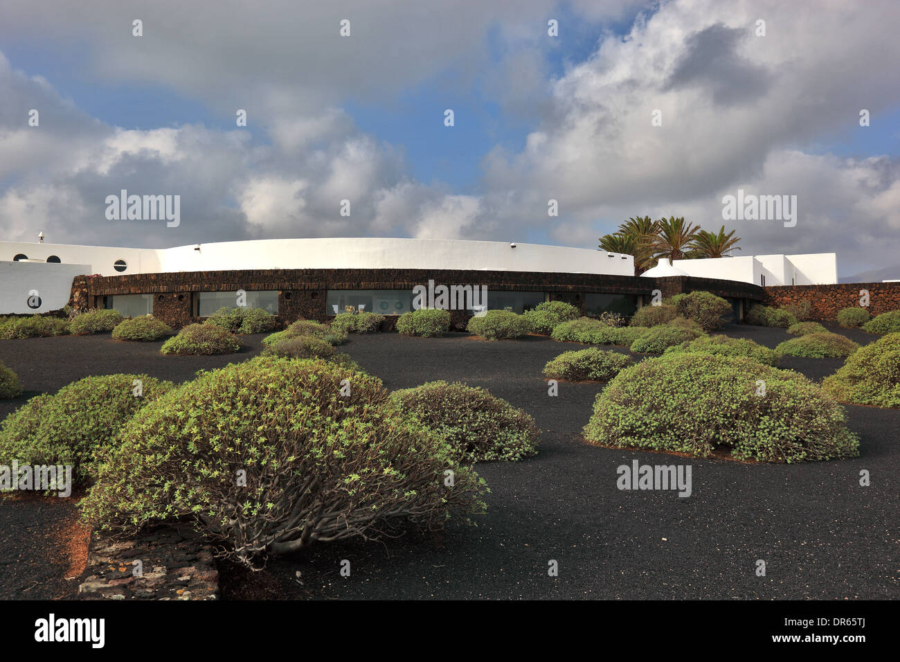 Building of the Jameos del Agua, in the lava field of the Volcan de la Corona, Lanzarote, Canary islands, canaries, Stock Photo