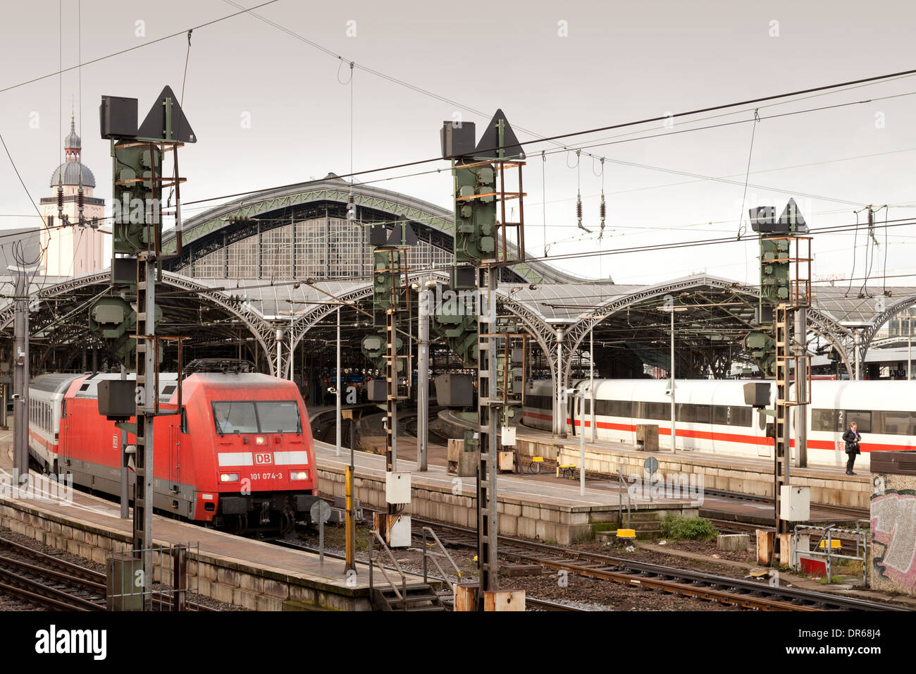 Kbk Köln railway station german stock photos railway station german stock