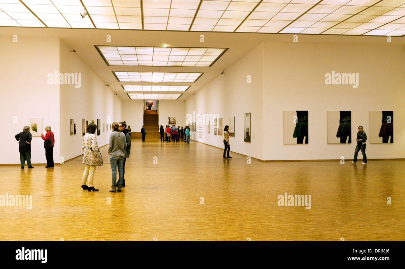 People and Modern Art, the interior of the Ludwig Museum of Modern ...