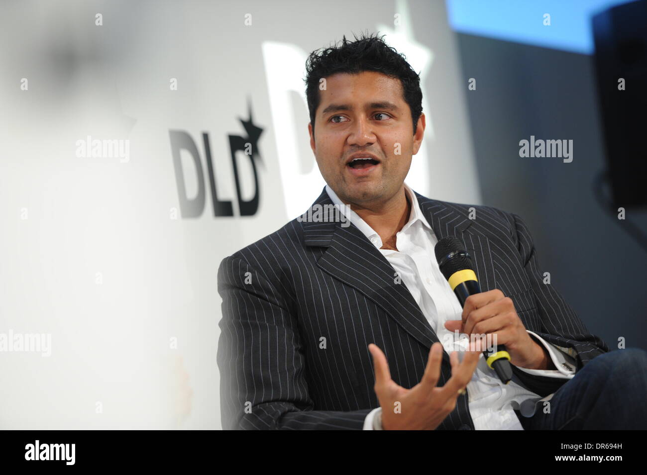 MUNICH/GERMANY - JANUARY 20: Shyam Sankar (Palantir) gestures on the