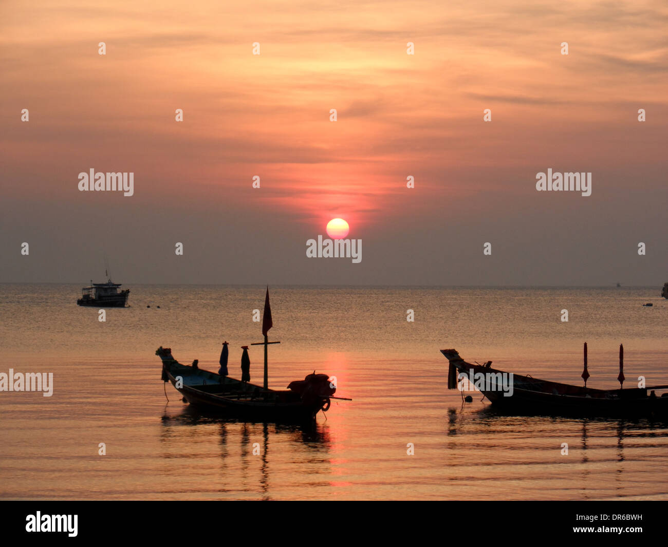 Sunset in Koh Toa, Thailand - Stock Image