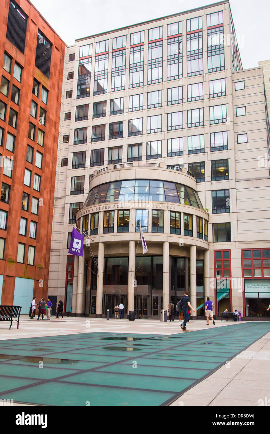 Exceptional New York City, USA: View Of New York University Stern School Of Business  And Plaza On December 9 2013.