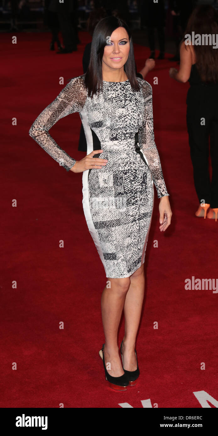 London, UK, 20th January 2014 Linzi Stoppard arrives at the European Premiere of Jack Ryan: Shadow Recruit at Vue Cinema, Leicester Square, London Photo: MRP/Alamy Live News - Stock Image