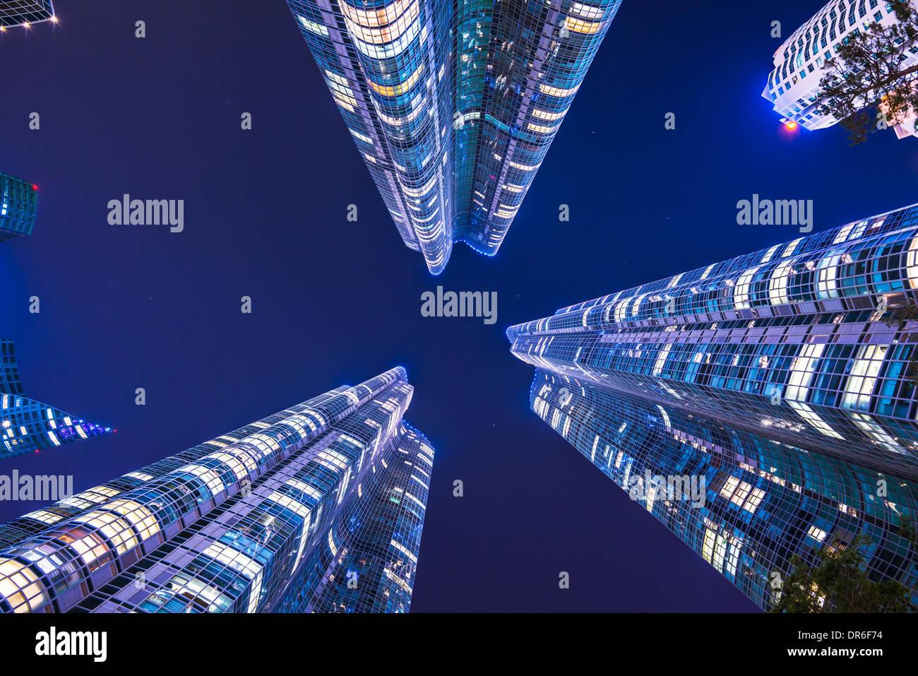 Busan, South Korea skyline at Haeundae District. - Stock Image