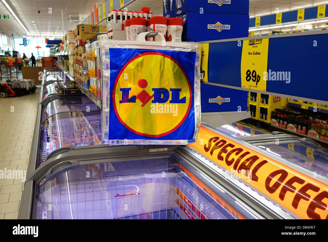 inside a lidl store, uk - Stock Image