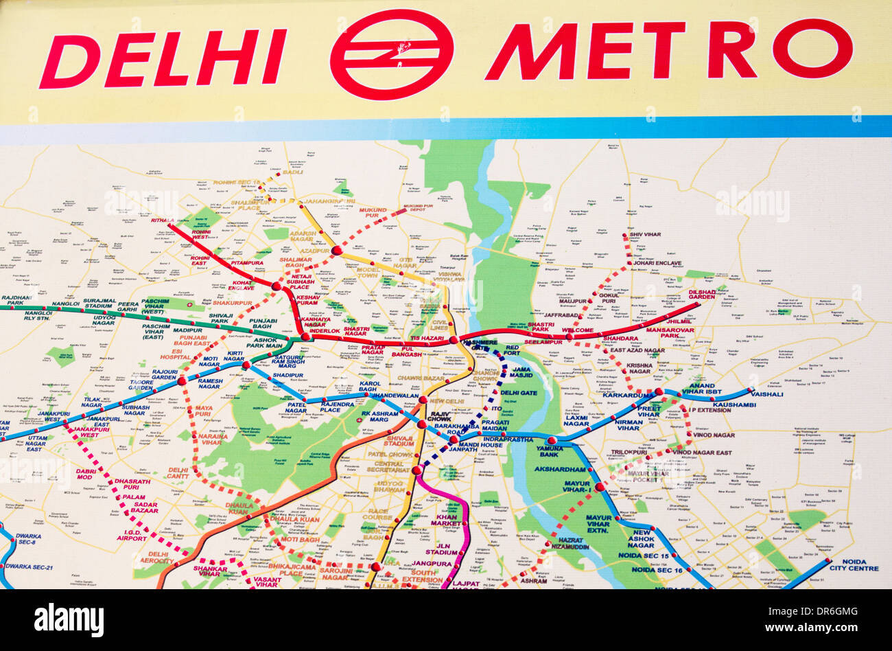The Delhi Metro, India Stock Photo: 65913024 - Alamy