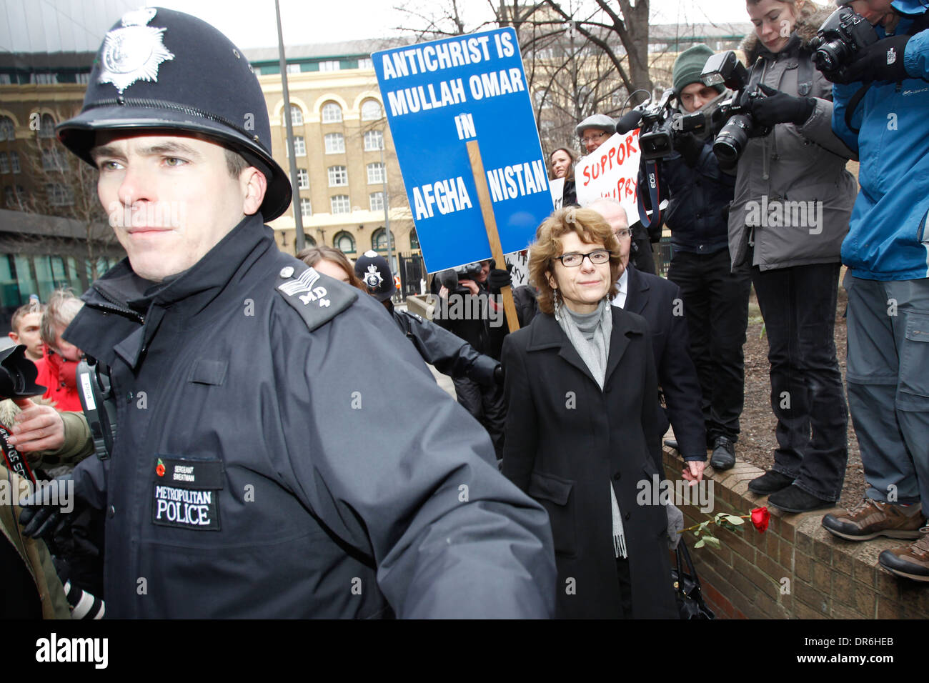 Vicky Pryce former Cabinet minister Chris Huhne - Stock Image