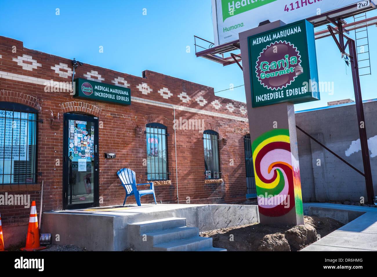 Ganja Gourmet Medical Marijuana Edibles. Denver Colorado off Broadway. - Stock Image