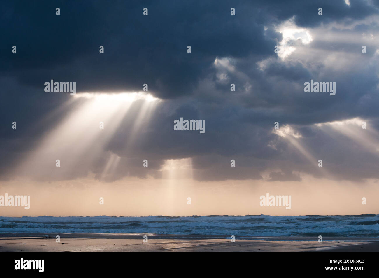 Winter dramatic sky - Stock Image